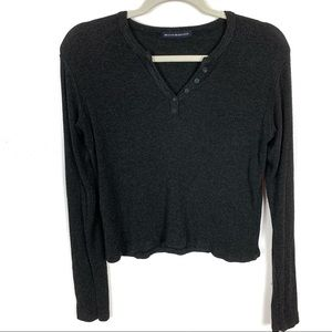 BRANDY MELVILLE Cropped Thermal Shirt One Size
